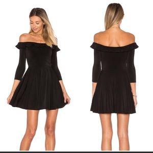 Lovers + Friends Gabbie Ruffle Mini Dress: Black